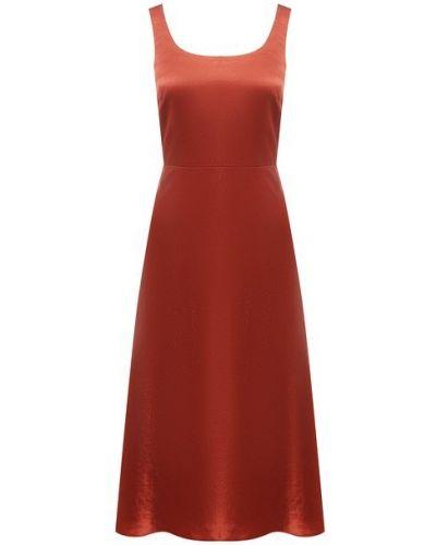 Красное платье Vince.