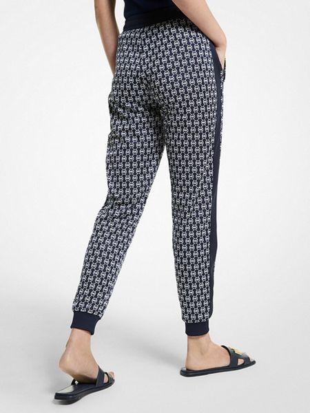Синие спортивные брюки с поясом с завязками Michael Kors