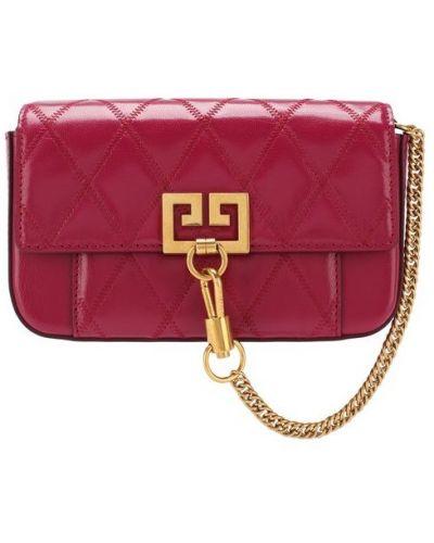Кожаная сумка через плечо поясная Givenchy