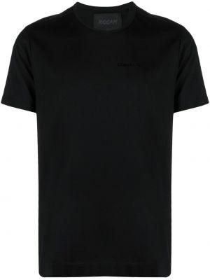 Czarny t-shirt bawełniany z printem Limitato