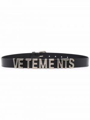 Кожаный ремень - черный Vetements