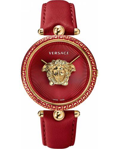 Водонепроницаемые часы на кожаном ремешке кварцевые Versace