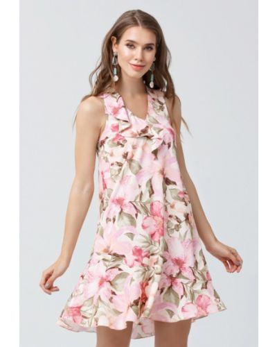Розовое платье мини Oks By Oksana Demchenko