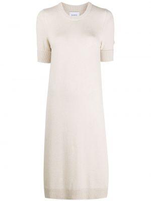 Кашемировое тонкое платье миди с вырезом с короткими рукавами Barrie