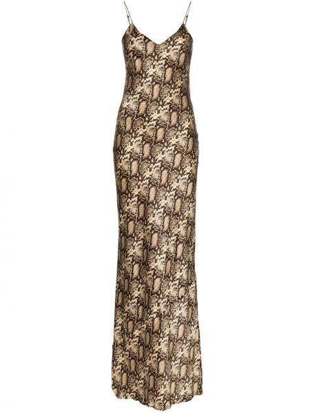 Платье макси на бретелях с V-образным вырезом Nili Lotan