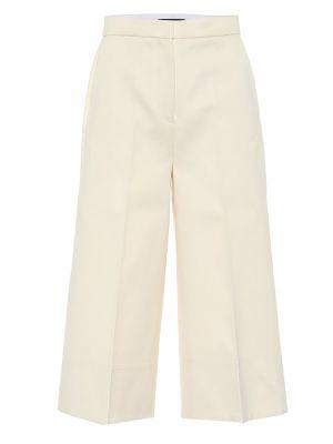 Ватные белые шелковые летние брюки с короткими рукавами Joseph