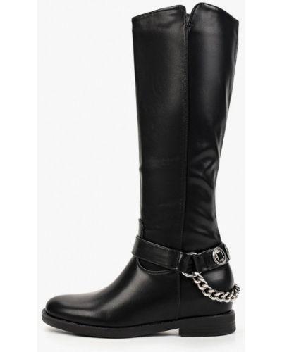 Черные сапоги из полиуретана Sweet Shoes
