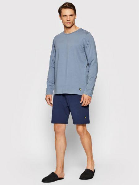 Piżama - niebieska Lyle & Scott