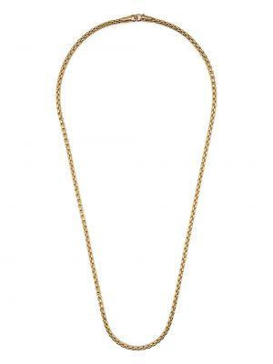 Naszyjnik łańcuch srebrny - żółty Tom Wood