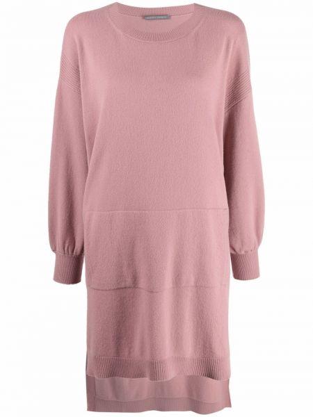 Платье макси с длинными рукавами - розовое Alberta Ferretti