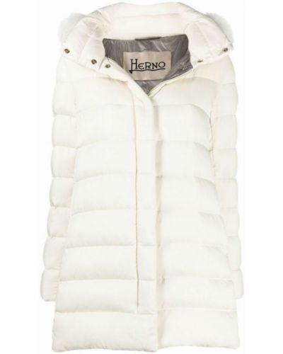 Biały płaszcz Herno