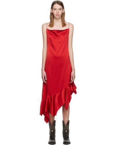 Asymetryczny z paskiem satyna sukienka przycięte Marques Almeida