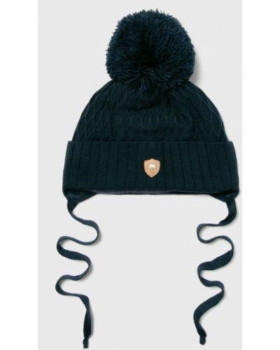 Зимняя шапка с помпоном трикотажная Jamiks