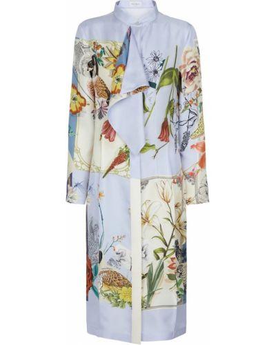 Шелковое пышное платье миди Salvatore Ferragamo