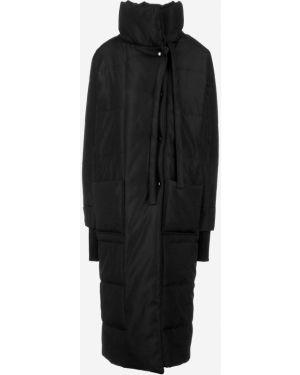 Зимняя куртка черная длинная Malaeva
