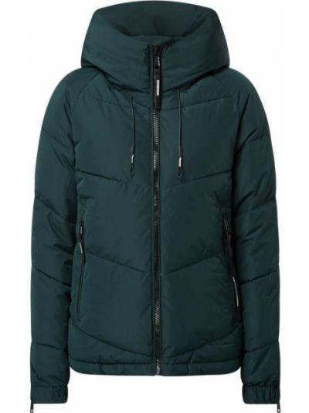 Zielona kurtka pikowana z raglanowymi rękawami Khujo