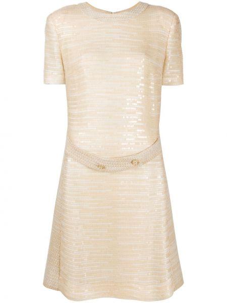 Платье с поясом с пайетками винтажная Chanel Pre-owned