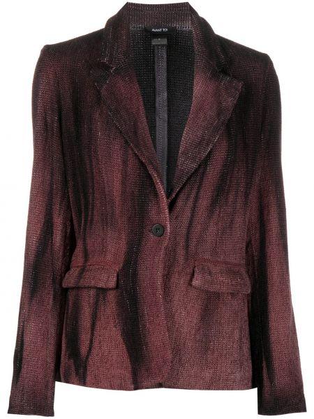 Шерстяной черный пиджак с карманами с лацканами Avant Toi