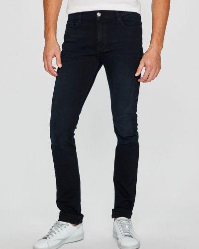 Джинсы-скинни с завышенной талией с нашивками Trussardi Jeans