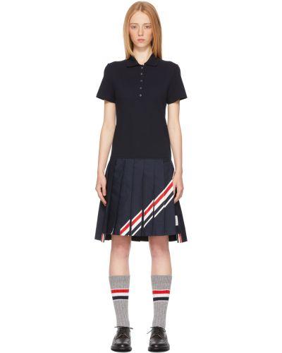Sukienka mini bawełniana krótki rękaw perły Thom Browne