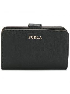 Черный кожаный кошелек Furla