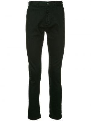 Черные зауженные брюки с поясом на пуговицах бязевые Makavelic