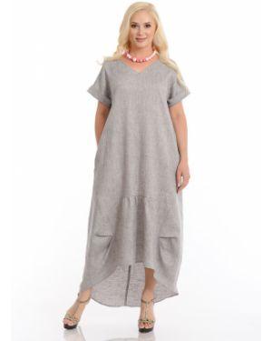 Платье в стиле бохо с V-образным вырезом на молнии с карманами Merlis