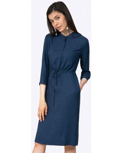 Платье осеннее синее Emka