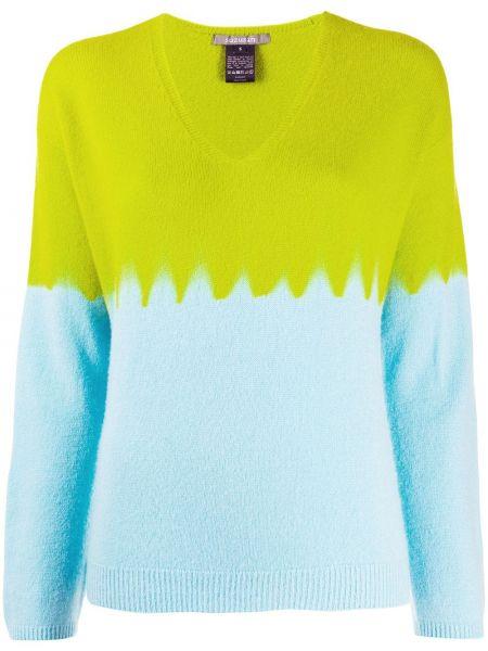 Кашемировый тонкий свитер с V-образным вырезом свободного кроя Suzusan