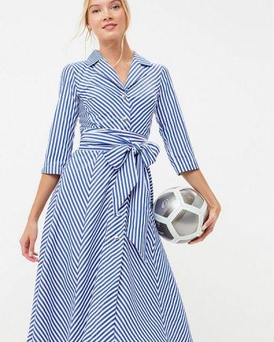 Платье платье-рубашка синее Tutto Bene