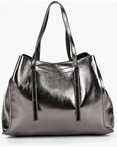 Кожаный сумка с ручками Mango