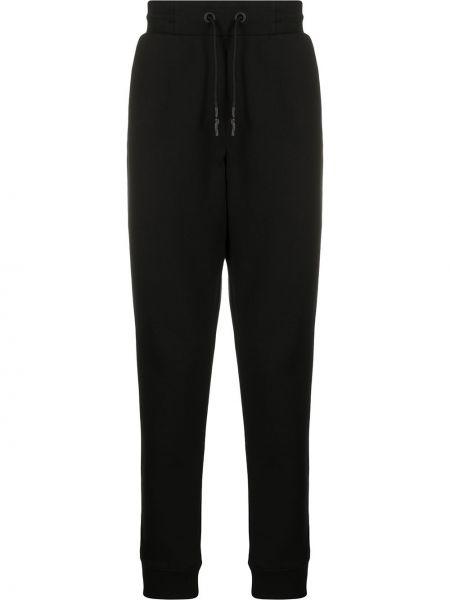 Czarne joggery z haftem bawełniane Mcq Alexander Mcqueen