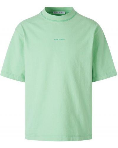 T-shirt bawełniana - czarna Acne Studios
