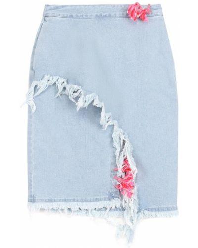 Голубая джинсовая юбка Steve J & Yoni P