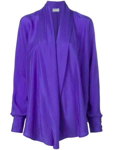 Фиолетовый топ на пуговицах винтажный Versus Pre-owned