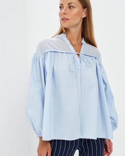 Голубая блузка с рюшами Glamorous