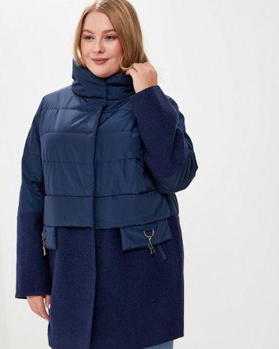 Утепленная куртка осенняя синий Kr