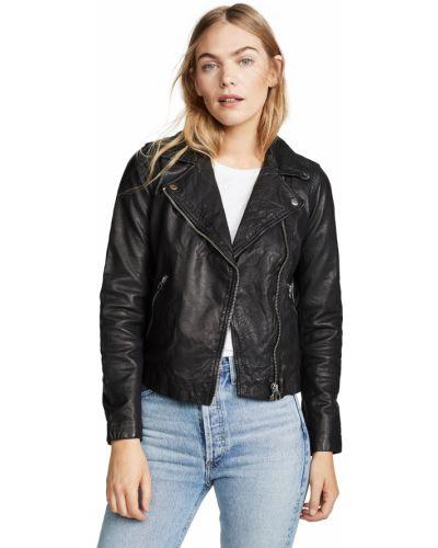 Кожаная куртка - черная Madewell