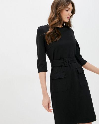 Прямое черное платье Savage