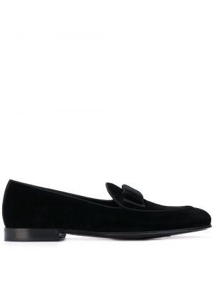 Кожаные лоферы - черные Dolce & Gabbana