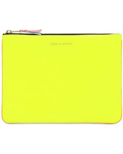 Кожаный клатч - желтый Comme Des Garçons Wallet