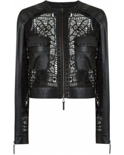 Черная куртка на молнии круглая Martha Medeiros