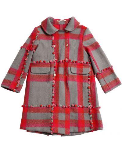 Деловое шерстяное розовое пальто Péro