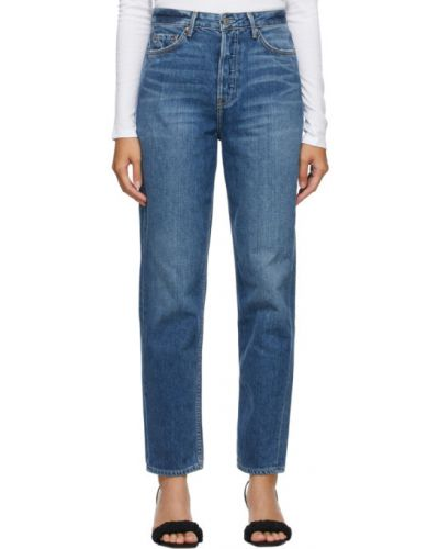 Кожаные белые джинсы с карманами Grlfrnd