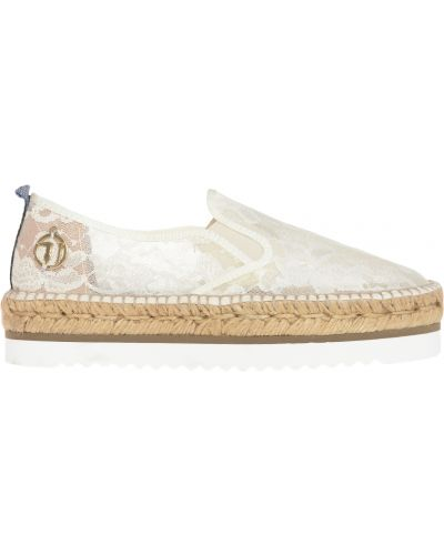 Эспадрильи белые Trussardi Jeans