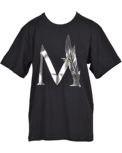 Czarna t-shirt Messagerie