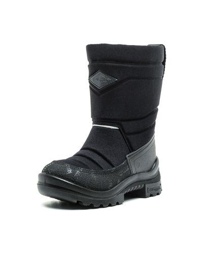Зимние ботинки кожаные черные Kuoma