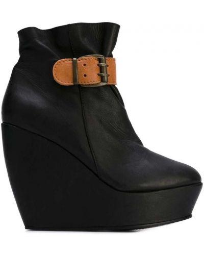 Кожаные сапоги черные черные Minimarket