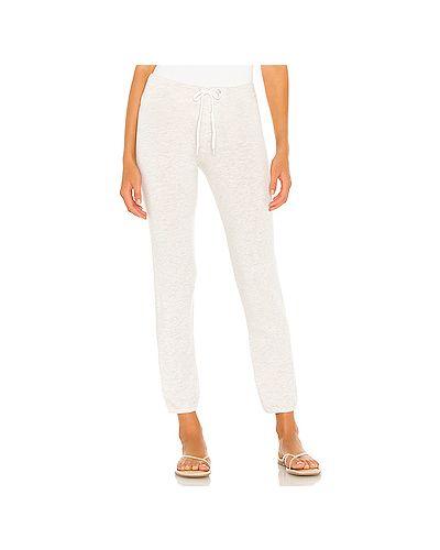 Облегающие махровые серые спортивные брюки винтажные Monrow