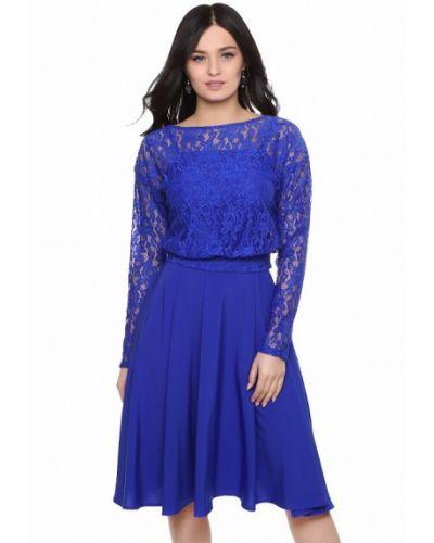 Синее коктейльное платье Grey Cat